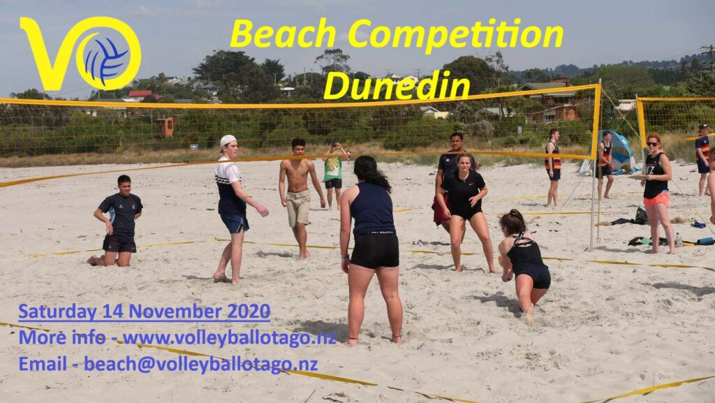 Volleyball Otago Beach Tournament Draw 14th November