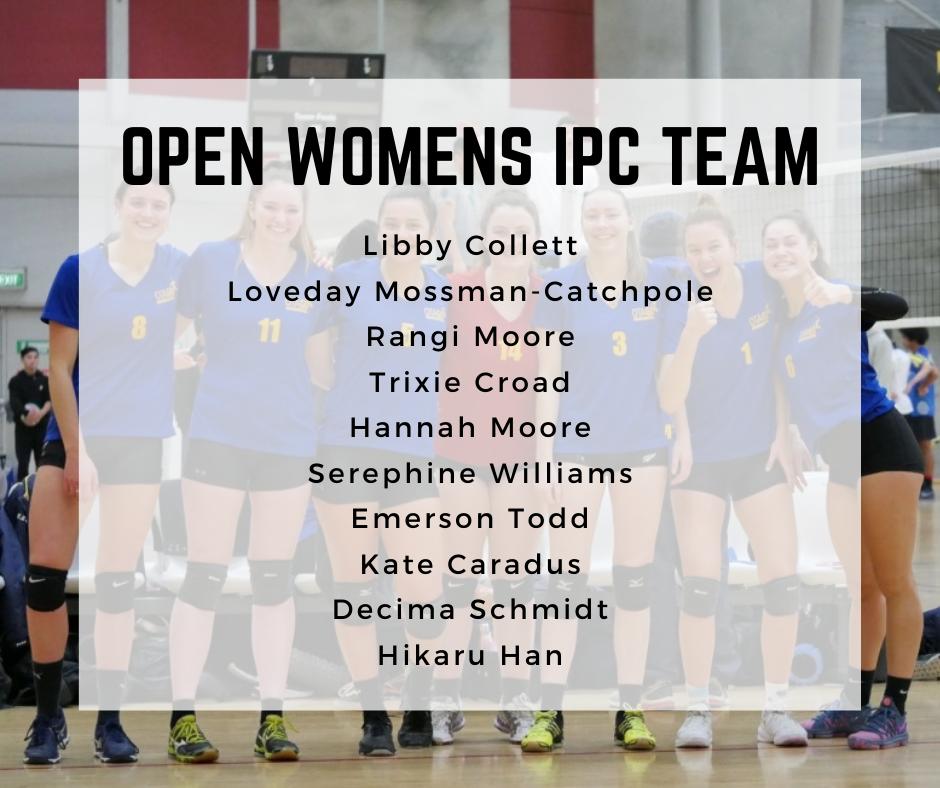 2021 Otago Open Woman's Team named